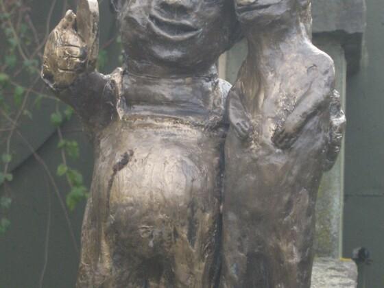 Bronceskulptur im Kölner Zoo