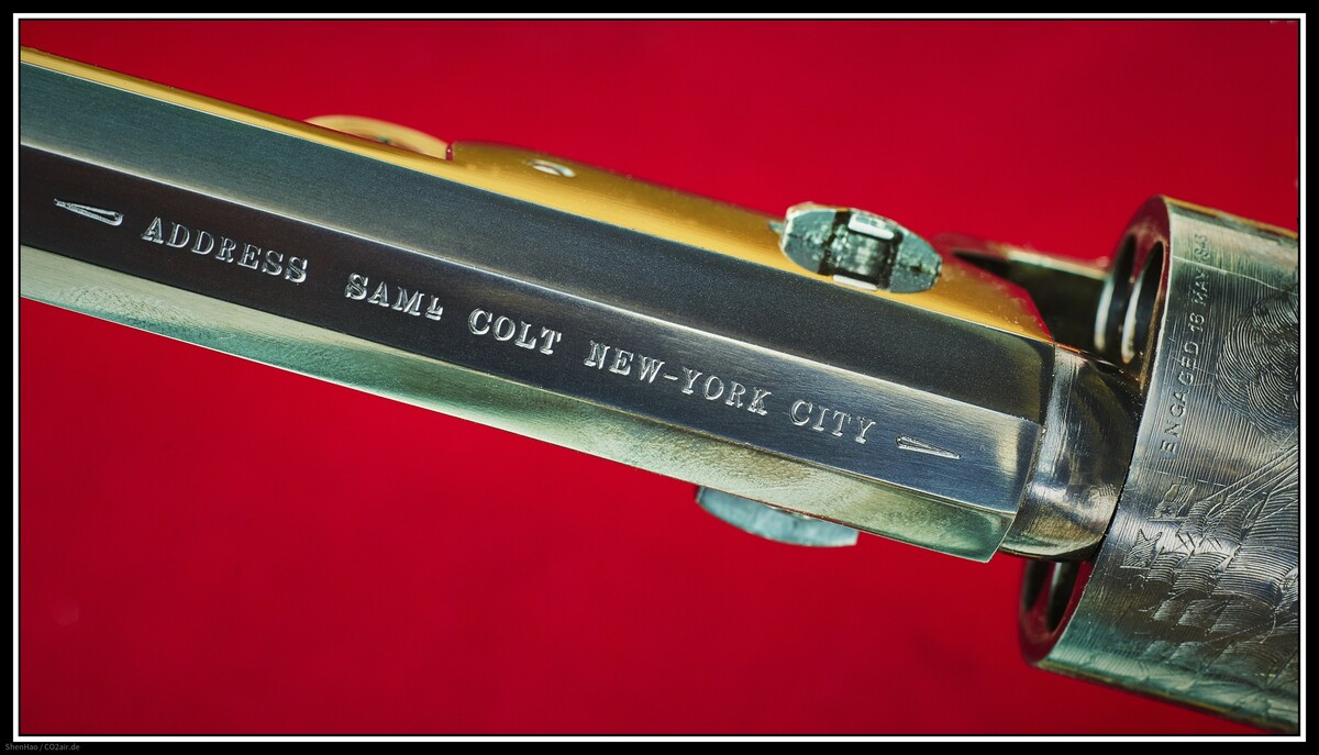 ADRESS  SAML  COLT  NEW-YORK  CITY   (Colt Navy 1851, Cal.36)