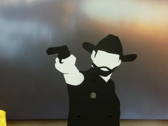 Selbstgebaute field target Ziele cowboy