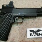 Nuprol Raven M1911 MEU mit Red Dot Vollmetall GBB 6mm BB