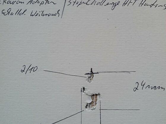 30m, outdoor, windstill, Sandsack aufgelegt