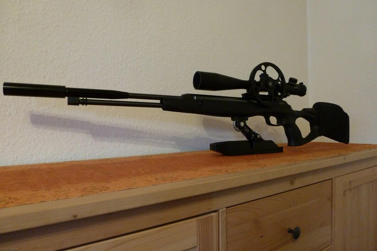 Walther LGU-Varmint mit Rowan-Hamster