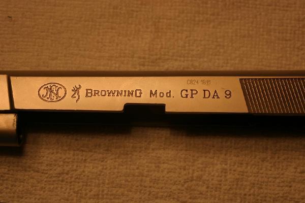 Pistole 9mm: browning gp da 9